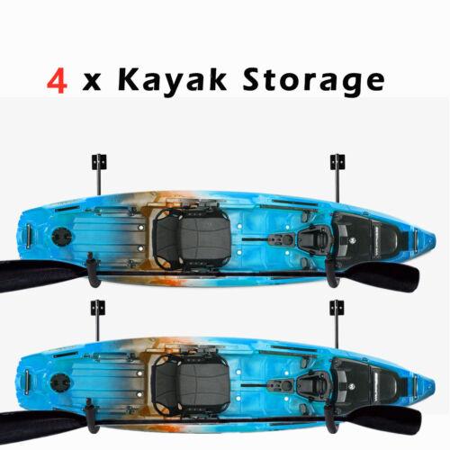 2 Pair Kayak Storage Wall Mount Hanger Rack for Canoe Paddle Kayak Hanging Hooks