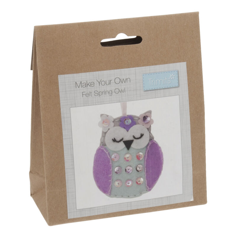 1x+Felt+Decoration+Thread+Kit+Spring+Owl+Sewing+Craft+Tool+Hobby+Art+UK