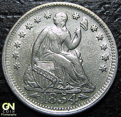 1854 P SEATED HALF DIME      MAKE US AN OFFER!  G4370