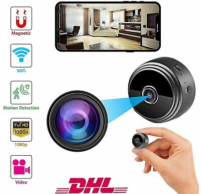 Mini Überwachungskamera HD 1080P Video Bewegungsmelder Wlan Netzwerk IP Kamera (Video-kameras)