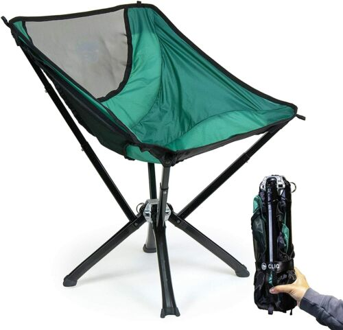 Cliq Camping Chair - Most Funded Portable Chair in Crowdfunding History Green