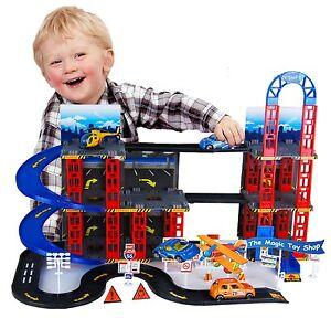 Multi Storey Car Park Auto Parking Garage Die Cast Cars Play Set Toy 16-8020