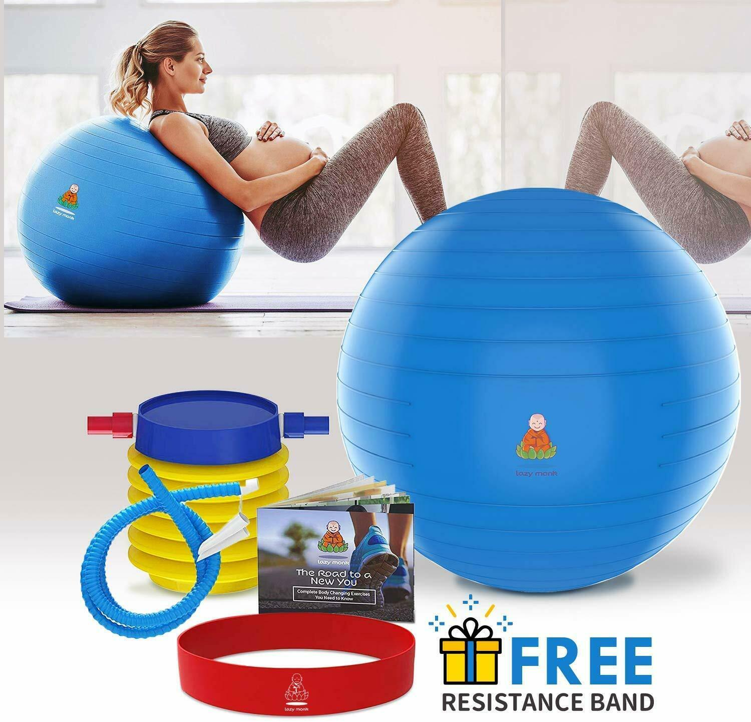 Exercise Ball, Fitness Workout & Chair Pregnancy Ball Anti-B