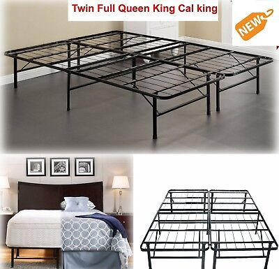Platform Metal Bed Frame FOR  Memory Foam or Mattress TWIN F