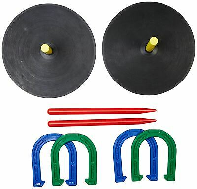 Horse Shoe Game (Rubber Horseshoe Game Set Horse Shoe Stakes Indoor Outdoor Recreational)