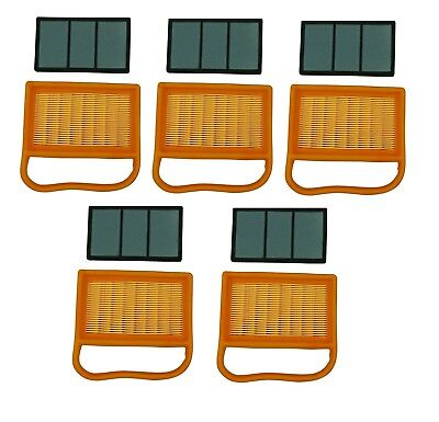 5 Pack Air Filter Set For Stihl Ts410 Ts420 Ts480i 4238-141-0300 4238-140-1800