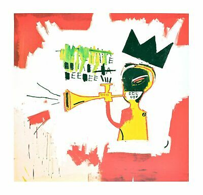 "JEAN M BASQUIAT /""Trumpet/"" Street Artwork Print on Glossy Paper or Canvas"