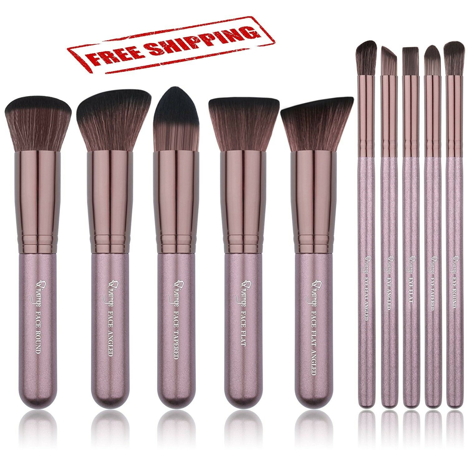 Makeup Brush Set Kabuki Soft Foundation Bronzer Concealer Ey