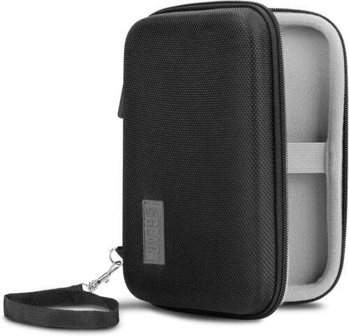 USA Gear Travel Electronics Organizer - 6.5 Inch Zipper Case with Hard Shell