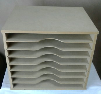 12 x 12 Scrapbooking Paper Storage Shelves Box