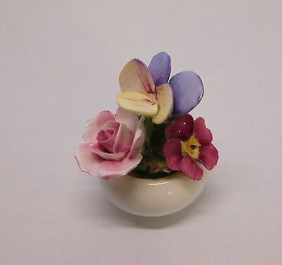 Fine Bone China Flower Bouquet Hand Modelled and Painted Aynsley England Vintage