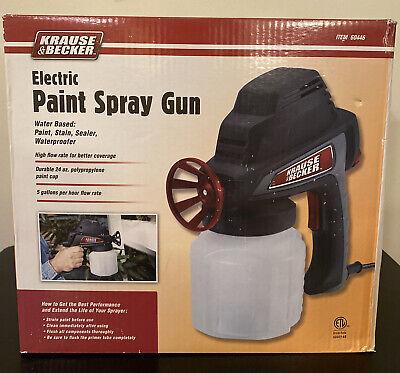 New Krause Becker Electric Paint Spray Gun Paintsstainssealerswaterproofer