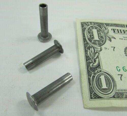 """100 Plain Steel Truss Head Semi-Tubular Rivets 3/16"""" Dia x 7/8"""" Long / 3/4"""" Grip"""