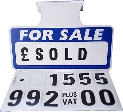 5 x For Sale Sign Board, Car Price/Pricing Sun Visor, Vehicle/Auto Price Unit
