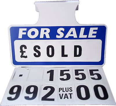 1  Blue For Sale Sign Board, Car Price/Pricing Sun Visor, Vehicle/Auto Price Kit