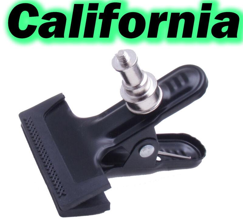 "Metal Clip Clamp Grip Light Stand 1/4"" Screw F Flash Trigger Mount Bracket Camer"