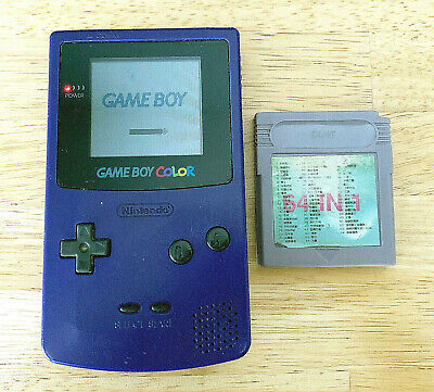NINTENDO GAME BOY COLOR CONSOLE GRAPE PURPLE GAMEBOY SYSTEM TESTED RARE