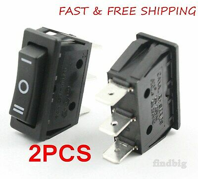 2pcs Canal Rh Series Rocker Switch On-off-on 3 Position 20 A 16 A