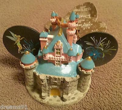Disneyland Disney Sleeping Beauty Castle Mickey Ear Hat Ornament Light Up NWT