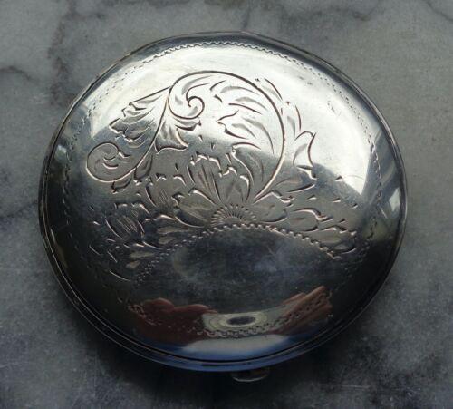 Vintage Sterling Silver Victorian Compact - Scrolled Leaf Design