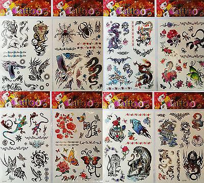 😊 8 x Kinder Tattoo Set ca.116  kleine Tattoos (rot) Mitgebsel Kindergeburtsag
