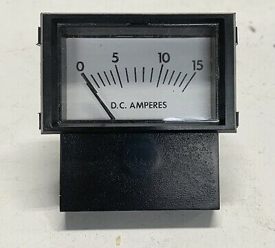 Made In Usa Prime Instruments - Analog Current Panel Meter Dc 15a Amp Ammeter