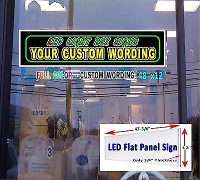 Led Sign With Your Custom Wording 48x12 Window Sign Neon Banner Alternative