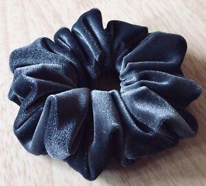 Large Grey Premium Quality Velvet Velour Hair Scrunchie,Hair Bobble,Hair Elastic
