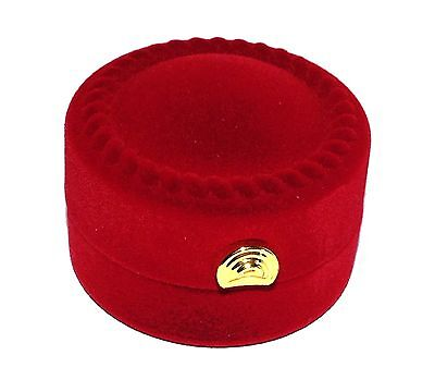 (Luxury Red Circular High Quality Velvet Ring Necklace Jewelry Gift Box)