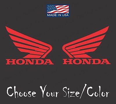 (2) HONDA WING Logo Vinyl Decals MOTORCYCLE RACING CAR STICKER RIGHT LEFT -