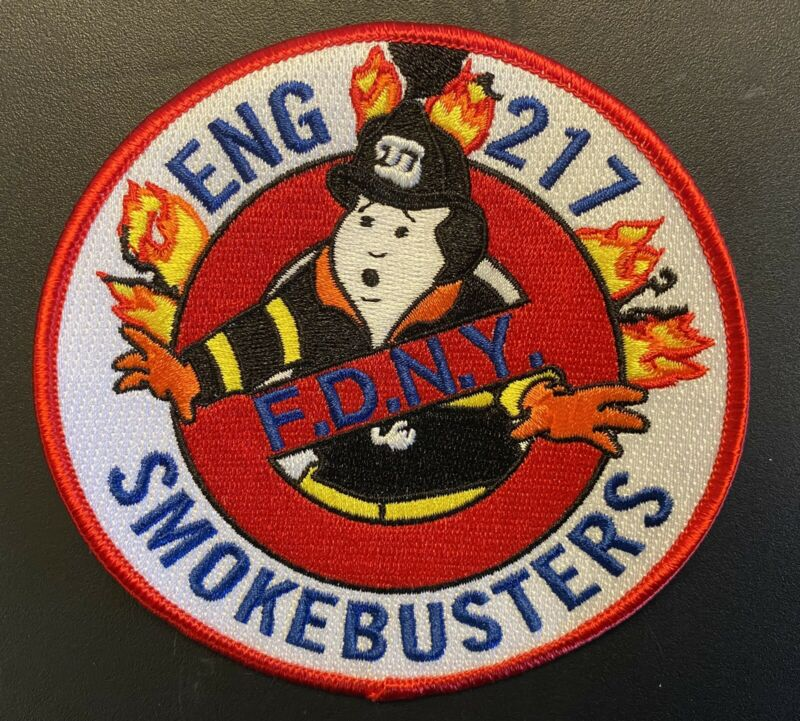 """NEW YORK CITY FIRE DEPT. ENGINE 217 PATCH(FDNY) 4.5"""" NEW"""