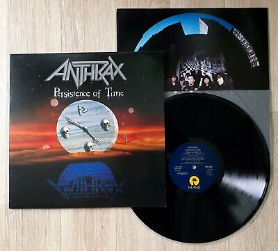 ANTHRAX Persistence Of Time LP Vinyl Original UK 1990 Megaforce Near Mint