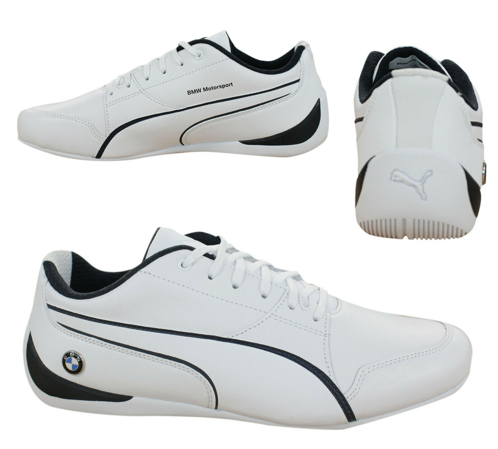 9c331d979f92 Puma BMW Motorsport Drift Cat 7 Lace Up Mens Trainers White 305986 ...