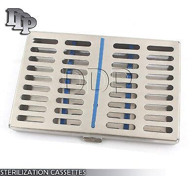 Dental Autoclave Sterilization Cassette Rack Box Tray For 10 Instruments