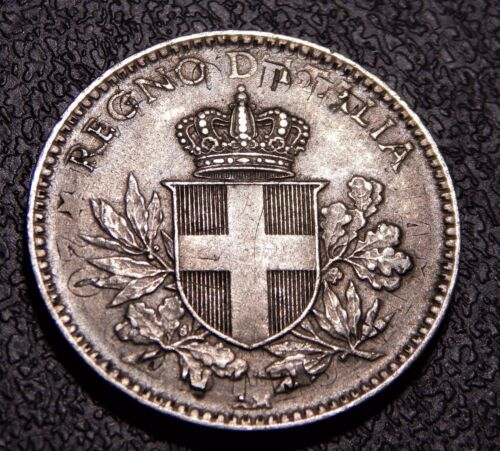 UNC Italy 1918 20 Centesimi Overstruck on KM# 28.1 (INCLUDED) Nice Coin!