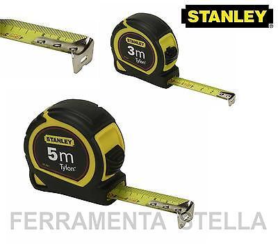 FLESSOMETRO METRO A NASTRO RULLINA  MISURA STANLEY GOMMA ANTISCIVOLO 3 e 5 MT