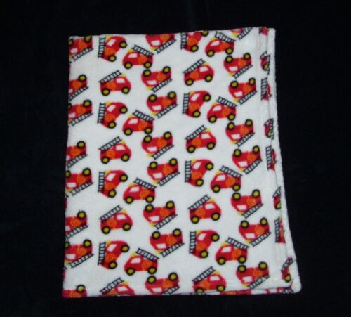 Forever Baby Red White Fire Truck Blanket Security Lovey