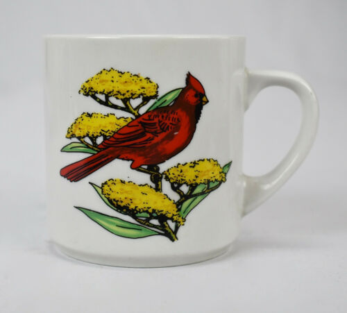 Vintage Bird Cardinal Coffee Mug