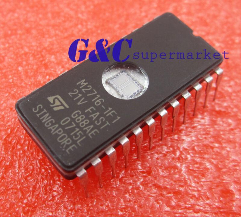 50PCS M2716-1F1 2716 ST Memory UV EPROM IC
