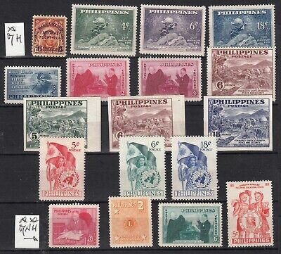 PHILIPPINES 1949 1951 MNH ** MH * lot of 18 stamps
