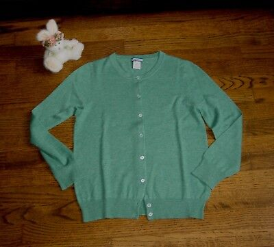 NWOT 100% CASHMERE LIGHTWEIGHT GREEN  SWEATER BY J CREW XS .orig. price $165.00