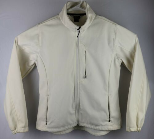 Woolrich White Womens Sz L Long Sleeve Athletic Full Zip Jacket