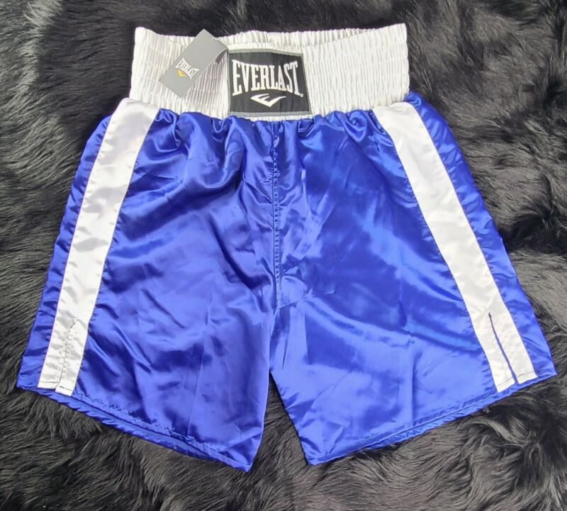 Everlast Polyester Satin Shiny Blue Boxing Trunks  GREATNESS IS WITHIN🥊