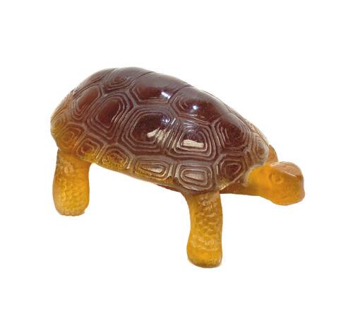 Daum Pate De Verre Art Glass Turtle or Tortoise Figurine