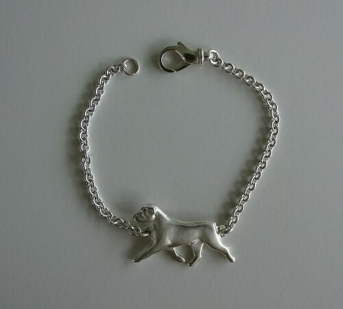 Small Sterling Silver Rottweiler Moving Study Bracelet