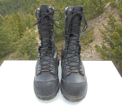 Iron Age Men's Leather Biker, Steel Toe Work Boot Size 7D