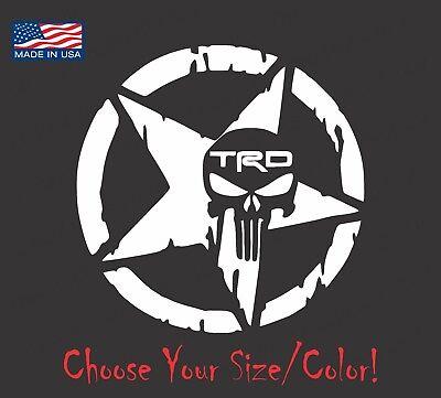 Toyota TRD Skull Star Vinyl Decal Sticker For Tundra Tacoma Racing 4X4 Sport ](Sports Stickers)