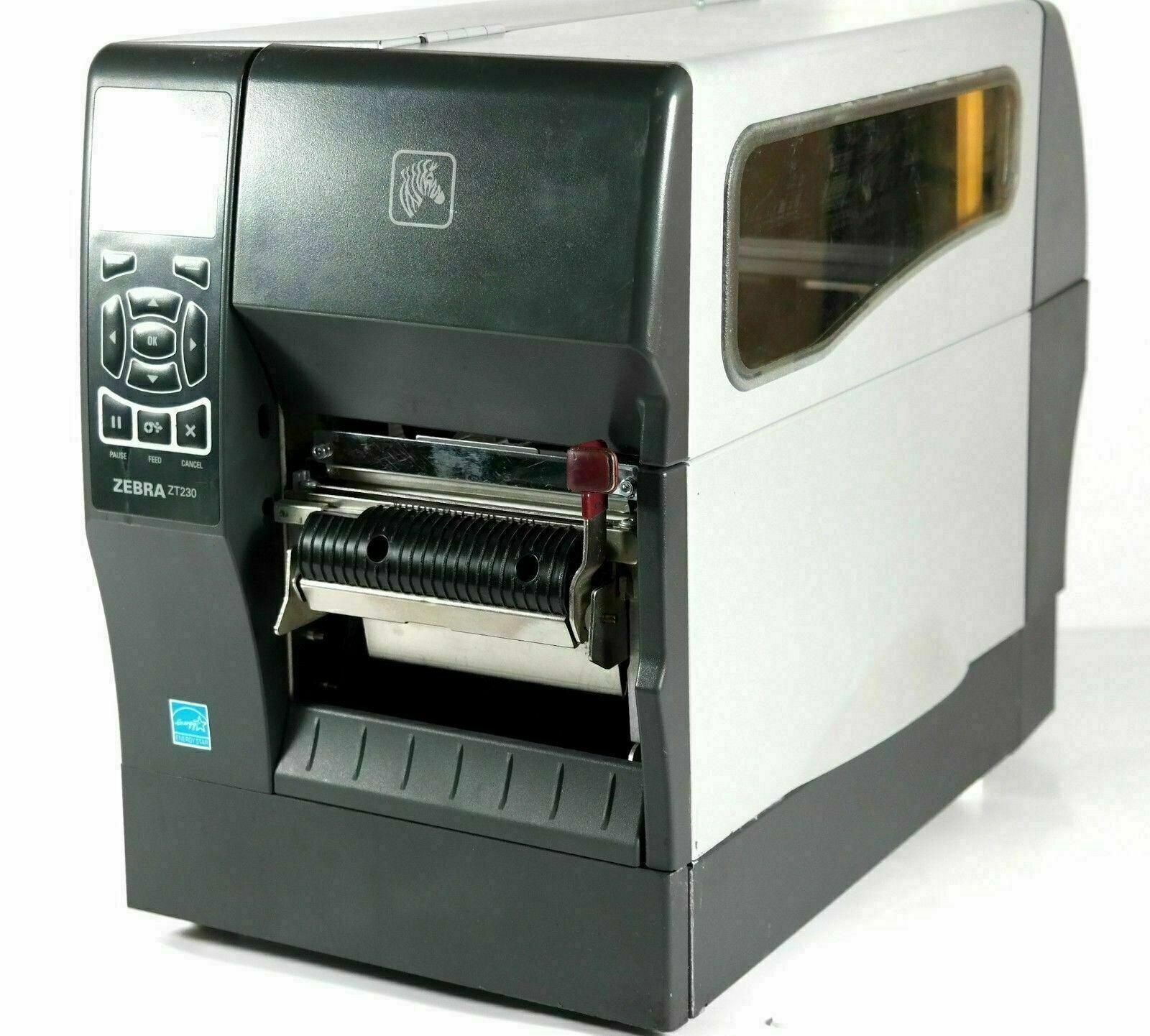 Zebra ZT230 Thermal Barcode Label Printer 123100-200 W