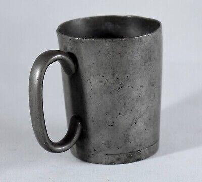 PEWTER CUP MUG TANKARD c1840