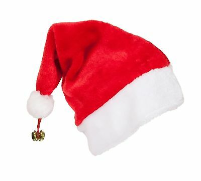 Father Christmas XMAS Santa Family Hat Lot For Adult Kid Baby Jingle Bell Gift